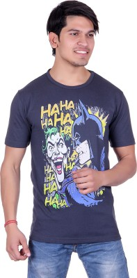 Lluminati Graphic Print Men's Round Neck Dark Blue T-Shirt  available at flipkart for Rs.188