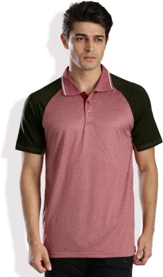 HRX by Hrithik Roshan Solid Men Polo Neck Red T-Shirt at flipkart