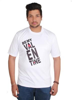 Star X Printed Men's Round Neck White T-Shirt