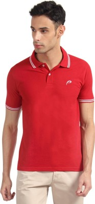 Proline Solid Men's Polo Neck Red T-Shirt  available at flipkart for Rs.399