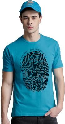 Young Trendz Printed Men's Round Neck Blue T-Shirt at flipkart