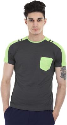 Zobello Solid Men's Round Neck Multicolor T-Shirt