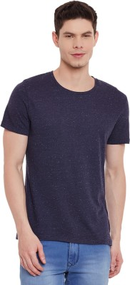 Chill Winston Solid Men's Round Neck Blue T-Shirt