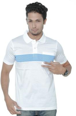 REEBOK Solid Men Polo Neck White T-Shirt
