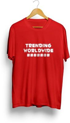 Teeforme Printed Men's Round Neck Red T-Shirt