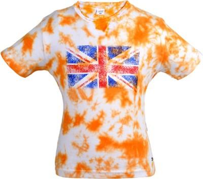 Gkidz Boys Printed T Shirt(Orange, Pack of 1) at flipkart