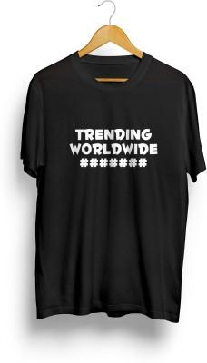 Teeforme Printed Men's Round Neck Black T-Shirt