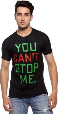 Trendmakerz Graphic Print Men Round Neck Black T-Shirt at flipkart
