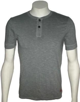 Cool Club Solid Men's Henley Grey T-Shirt