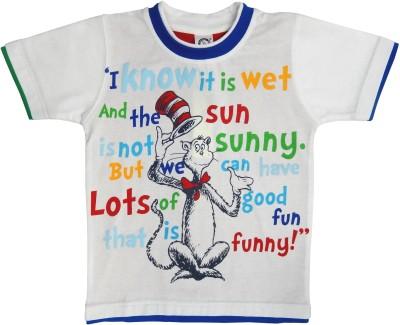 Kooka Boys Graphic Print T Shirt(White, Pack of 1) at flipkart