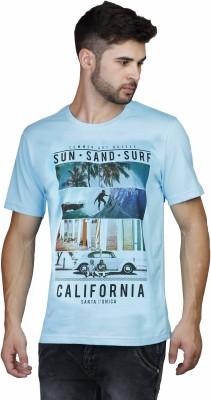 Scottish Printed Men's Round Neck Blue T-Shirt