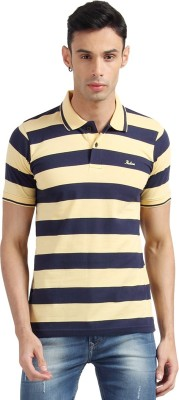 Proline Solid Men's Polo Neck Yellow T-Shirt  available at flipkart for Rs.399