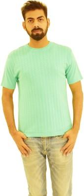 Oldberri Solid Men's Round Neck Green T-Shirt