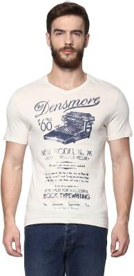 Celio Graphic Print Men's V-neck Grey T-Shirt at flipkart