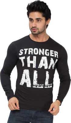 Alan Jones Graphic Print Men Round Neck Black T-Shirt
