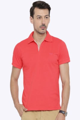 Sports 52 Wear Solid Men's Polo Neck Pink T-Shirt  available at flipkart for Rs.399