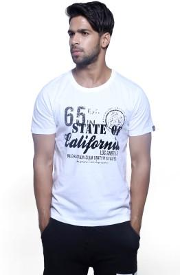 Masculino Latino Printed Men's Round Neck Reversible White T-Shirt