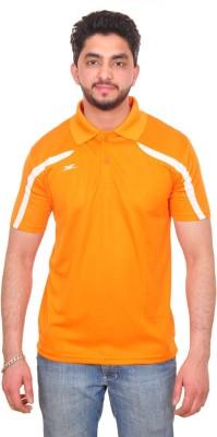 Zagros Solid Men's Polo Neck Denim Orange T-Shirt