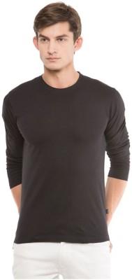izzard Solid Men's Round Neck Black T-Shirt