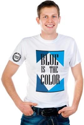 6th Cross Graphic Print Men's Round Neck White T-Shirt