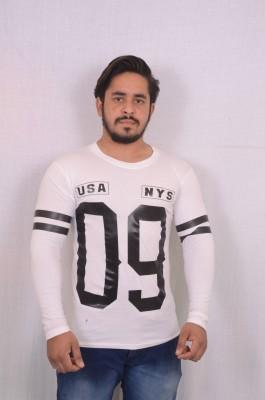 hero & piyush Printed Men Round Neck White T-Shirt at flipkart