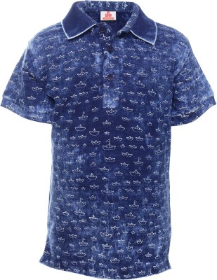 UFO Boys Printed T Shirt(Dark Blue) at flipkart