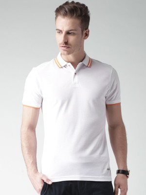 Invictus Solid Men Polo Neck White T-Shirt at flipkart