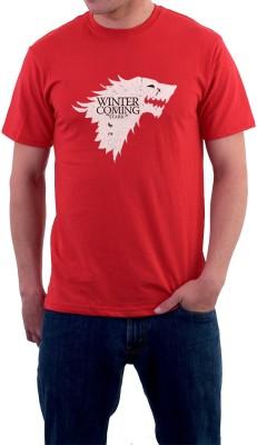 Teeforme Graphic Print Men's Round Neck Red T-Shirt