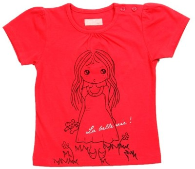 JusCubs Girls Solid T Shirt(Pink)