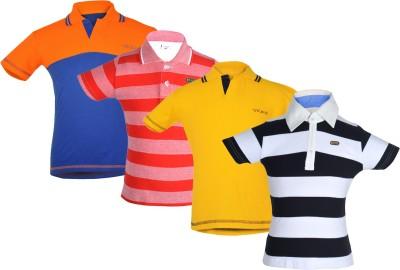 Gkidz Boys Striped T Shirt(Multicolor, Pack of 1) Flipkart