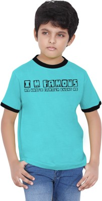 Tantra Boys Graphic Print Cotton T Shirt(Blue, Pack of 1)