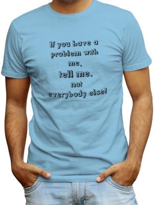 Redfool Fashions Graphic Print, Printed Men's Round Neck Blue T-Shirt