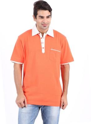 e34e0280 29% OFF on Furore Solid Men's Polo Neck Orange T-Shirt on Flipkart |  PaisaWapas.com