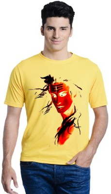 THORKLOTH Solid Men Polo Neck Yellow T-Shirt