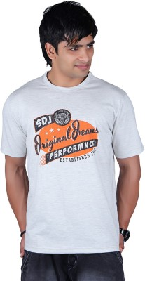 Lluminati Graphic Print Men's Round Neck White T-Shirt  available at flipkart for Rs.188