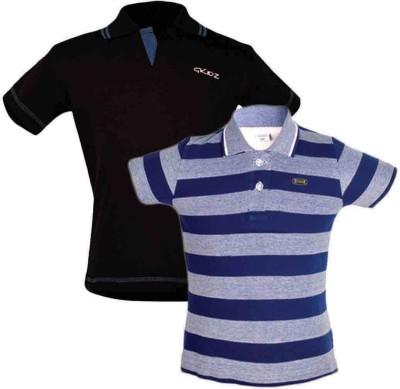 Gkidz Boys Solid Cotton T Shirt(Multicolor, Pack of 2) Flipkart