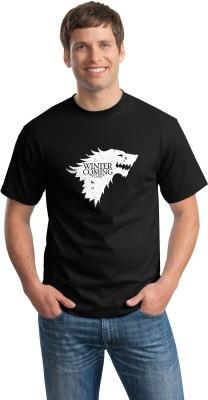 Teeforme Graphic Print Men's Round Neck Black T-Shirt