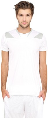 Campus Sutra Solid Men V-Neck White T-Shirt at flipkart