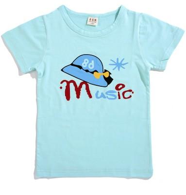 Zonko Style Girls Solid T Shirt(Light Blue)