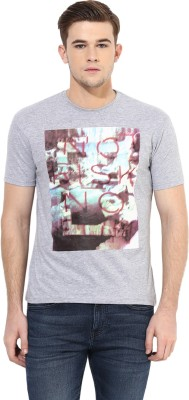 Cayman Printed Men's Round Neck Grey T-Shirt