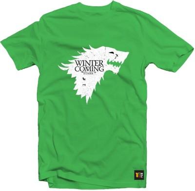 Teeforme Graphic Print Men's Round Neck Green T-Shirt