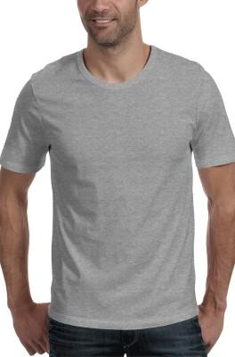 Moody's Kitchen Solid Men's Round Neck Grey T-Shirt