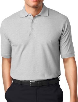 Moody's Kitchen Solid Men's Polo Neck White T-Shirt
