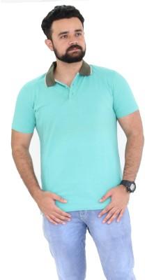 Oldberri Solid Men's Polo Neck Light Blue T-Shirt