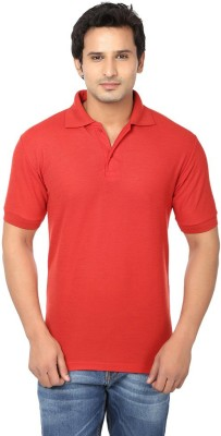 Ansh Fashion Wear Solid Men's Polo Neck Red T-Shirt