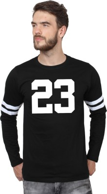 SayItLoud Graphic Print Men Round or Crew Black T Shirt