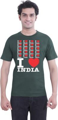 Tantra Graphic Print Mens Round Neck Dark Green T-Shirt