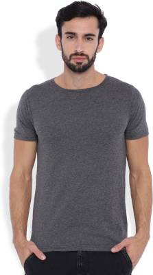Rodid Solid Men's Round Neck Grey T-Shirt