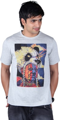 Lluminati Graphic Print Men's Round Neck Grey T-Shirt  available at flipkart for Rs.188