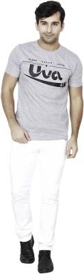 BrandTrendz Printed Men's Round Neck Grey T-Shirt